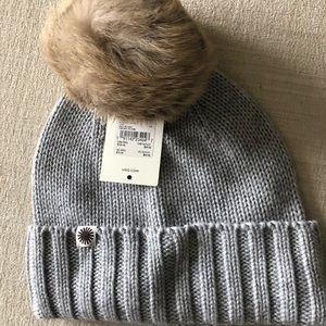 Grey Ugg Pompom Hat